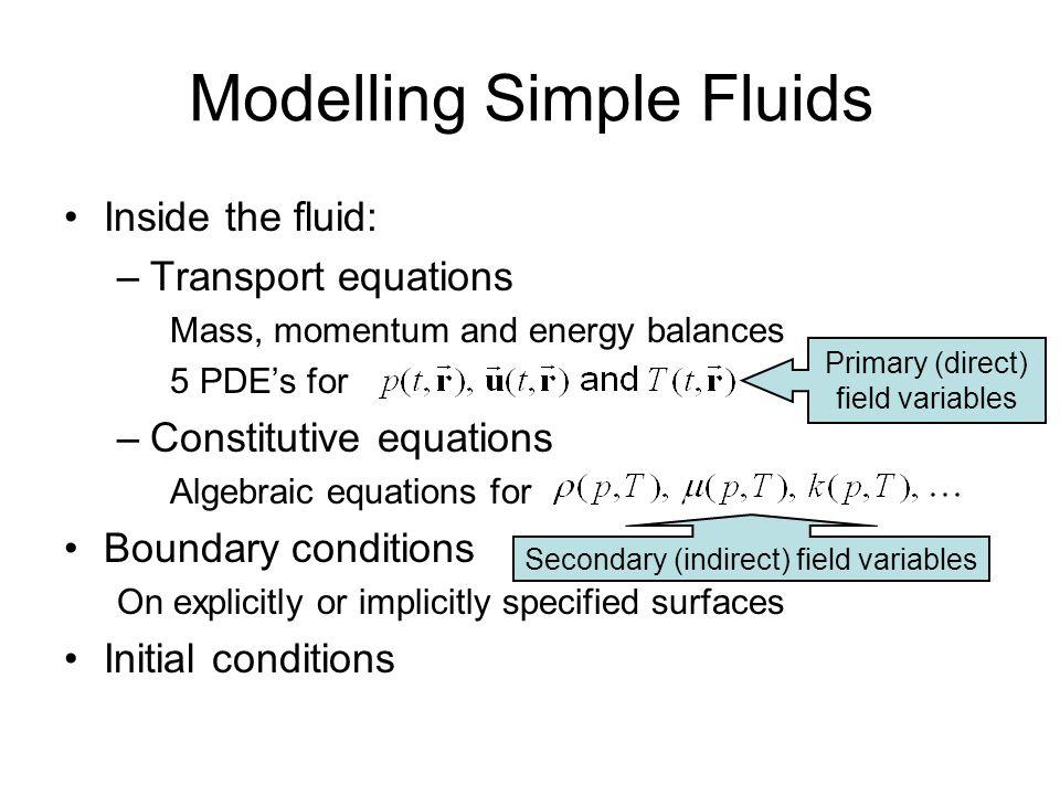 Modelling Simple Fluids