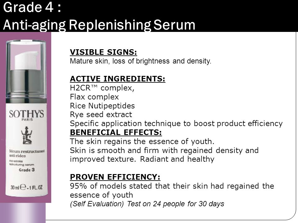 Grade 4 : Anti-aging Replenishing Serum