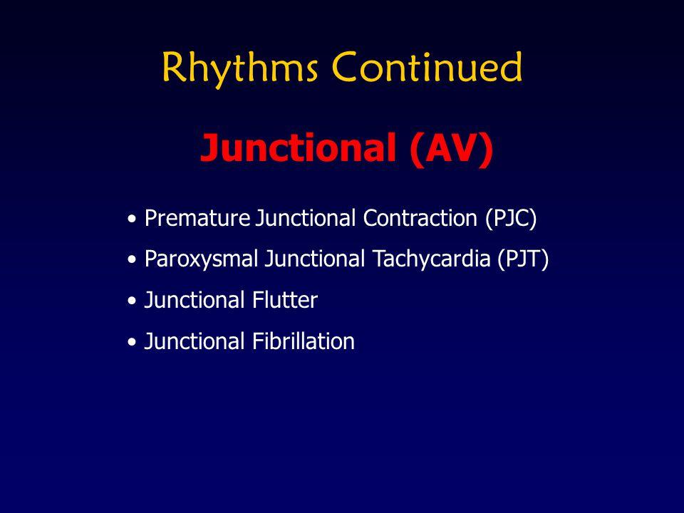 Rhythms Continued Junctional (AV)