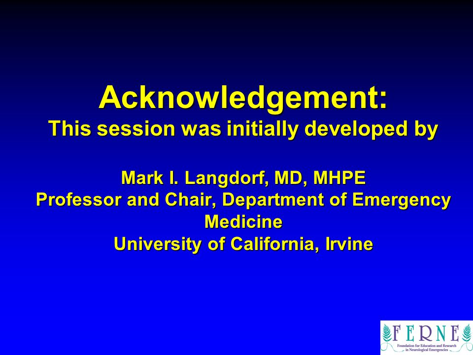 Acknowledgement: This session was initially developed by Mark I
