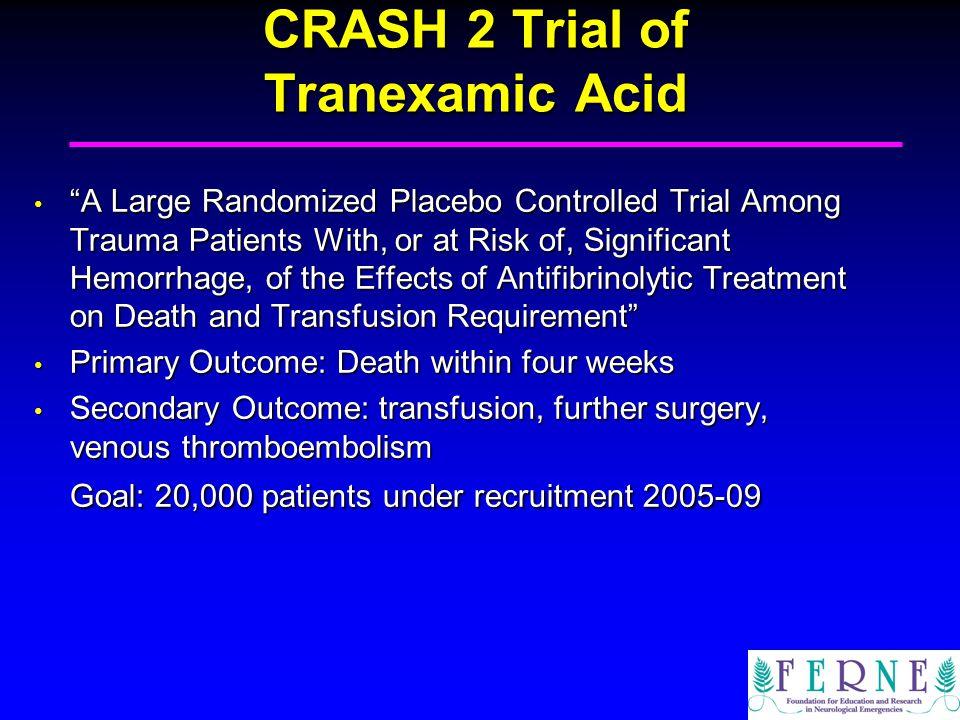CRASH 2 Trial of Tranexamic Acid