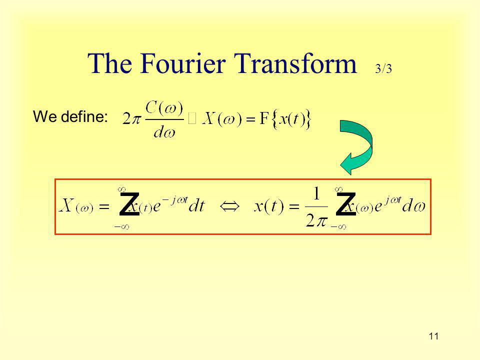 The Fourier Transform 3/3