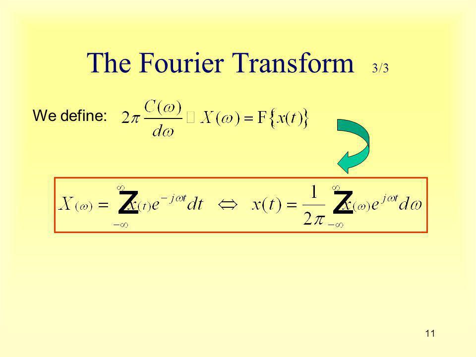 The Fourier Transform 3/3