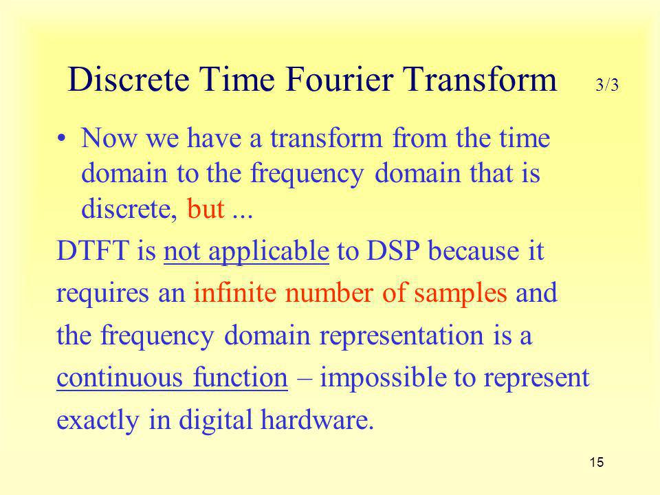 Discrete Time Fourier Transform 3/3