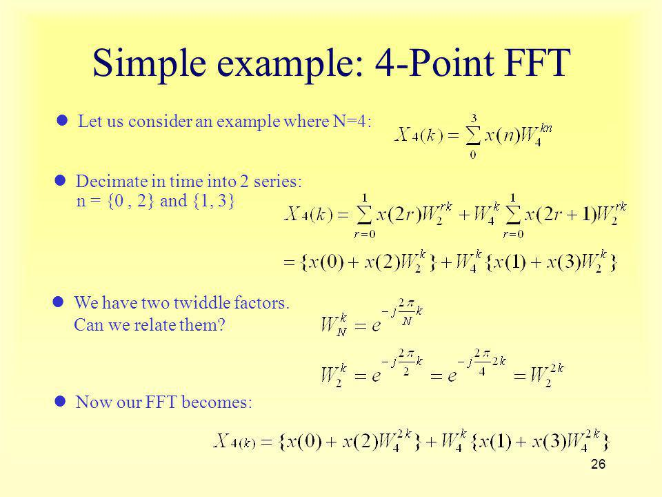 Simple example: 4-Point FFT