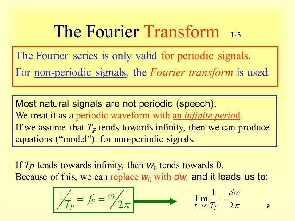 The Fourier Transform 1/3