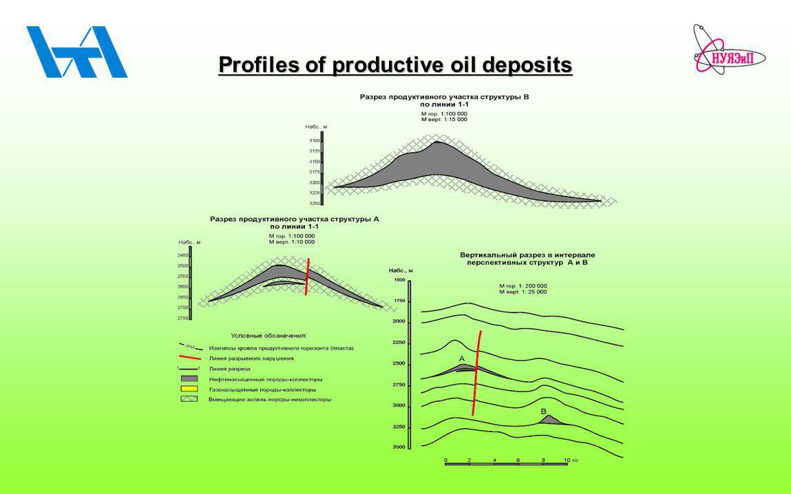 Profiles of productive oil deposits