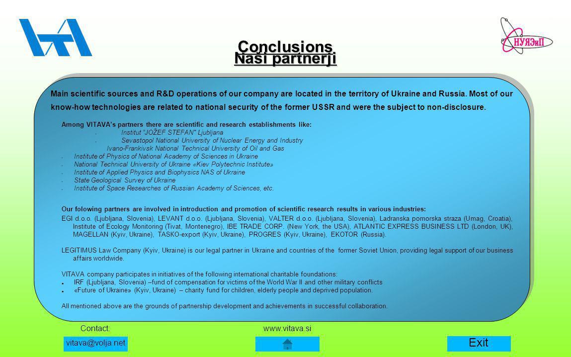 Conclusions Naši partnerji
