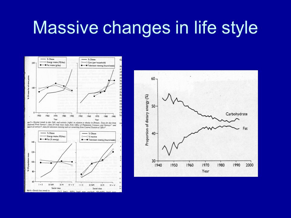 Massive changes in life style