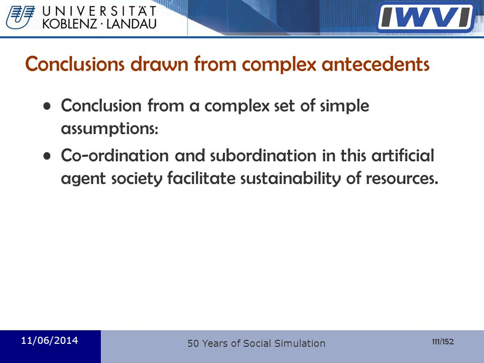 Conclusions drawn from complex antecedents