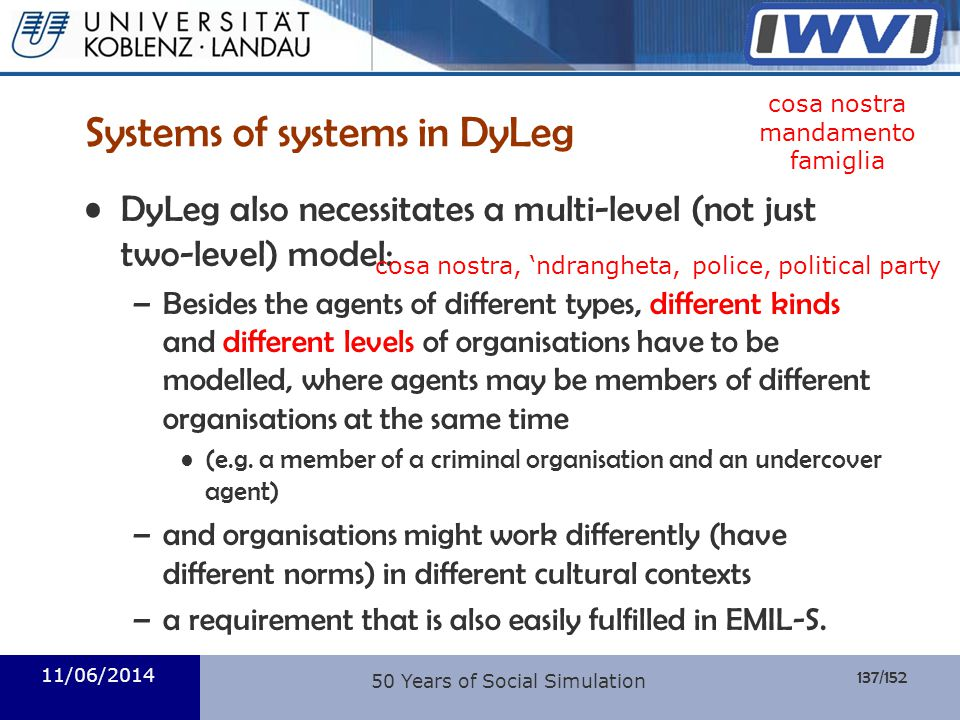 Systems of systems in DyLeg