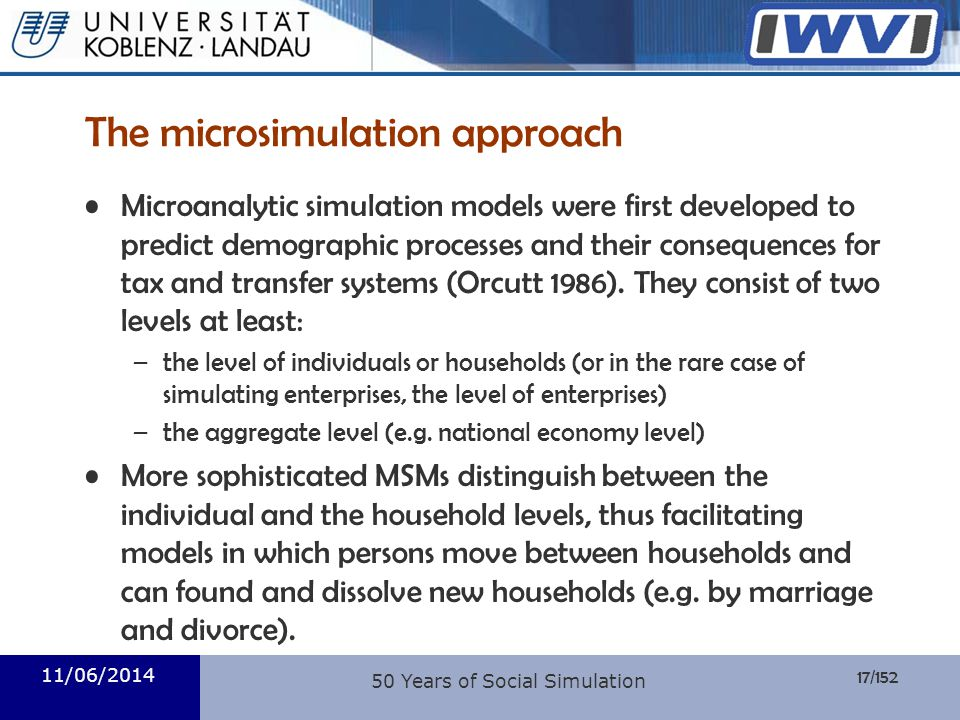 The microsimulation approach