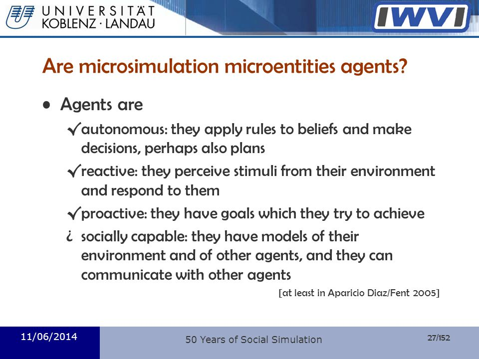 Are microsimulation microentities agents