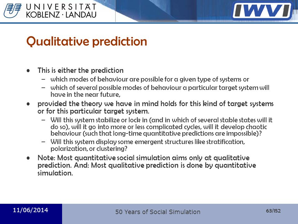 Qualitative prediction