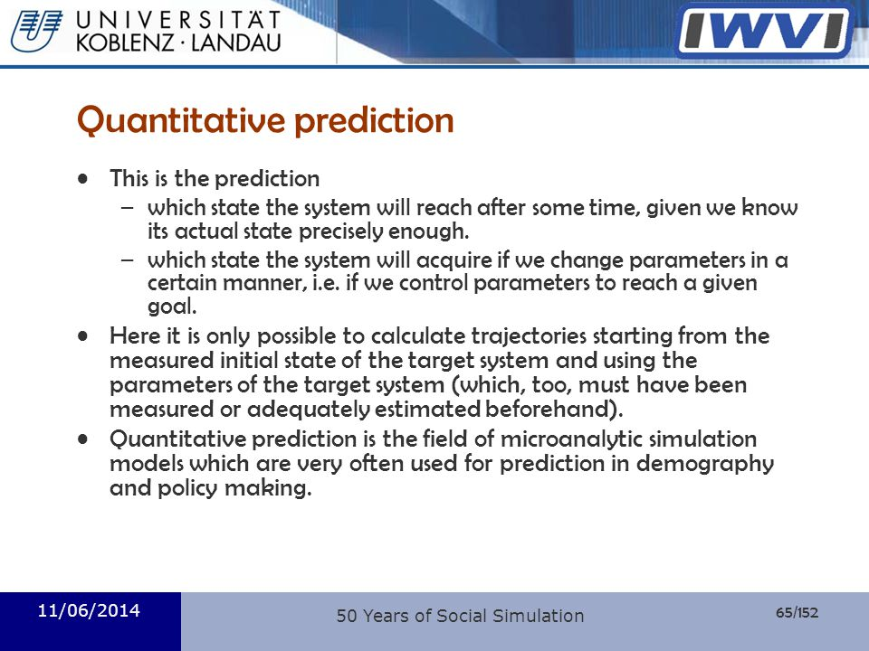 Quantitative prediction