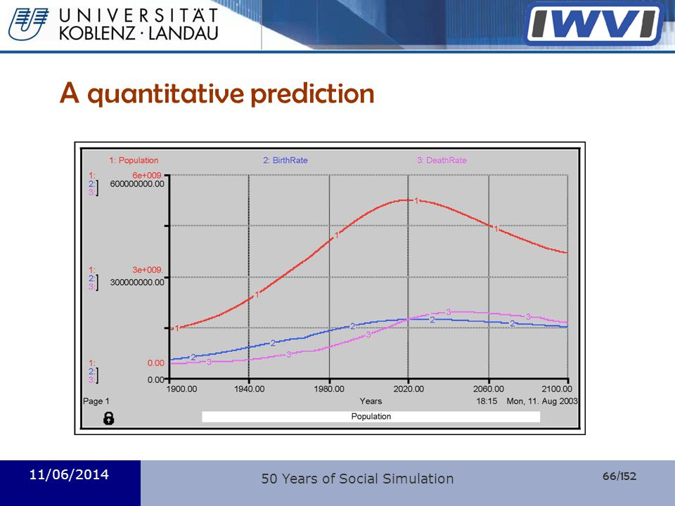 A quantitative prediction
