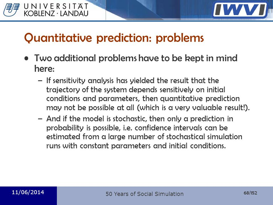 Quantitative prediction: problems
