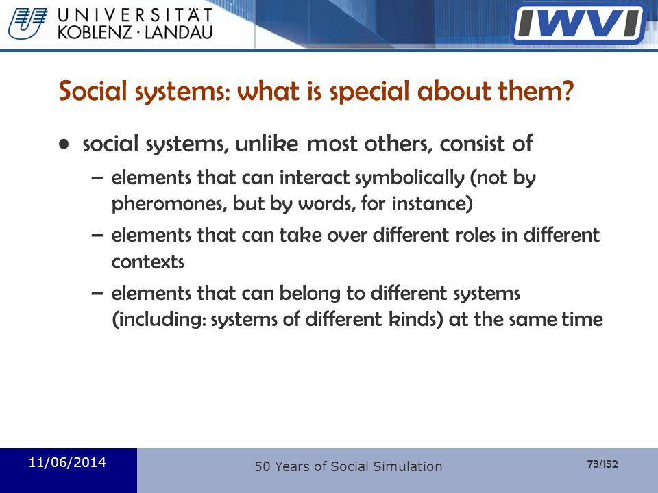 Social systems: what is special about them