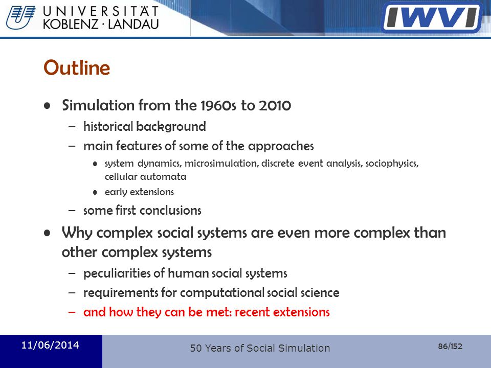 50 Years of Social Simulation