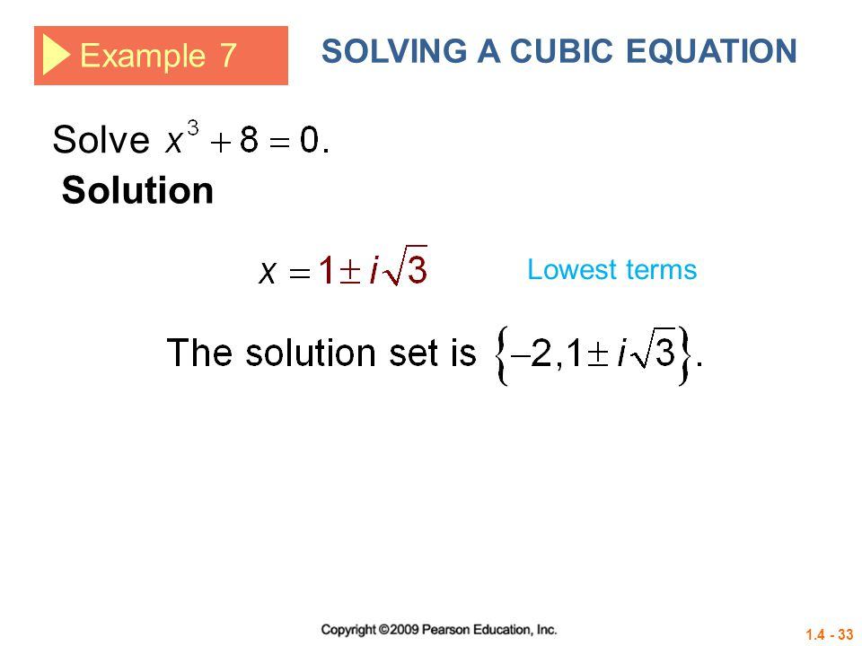 SOLVING A CUBIC EQUATION