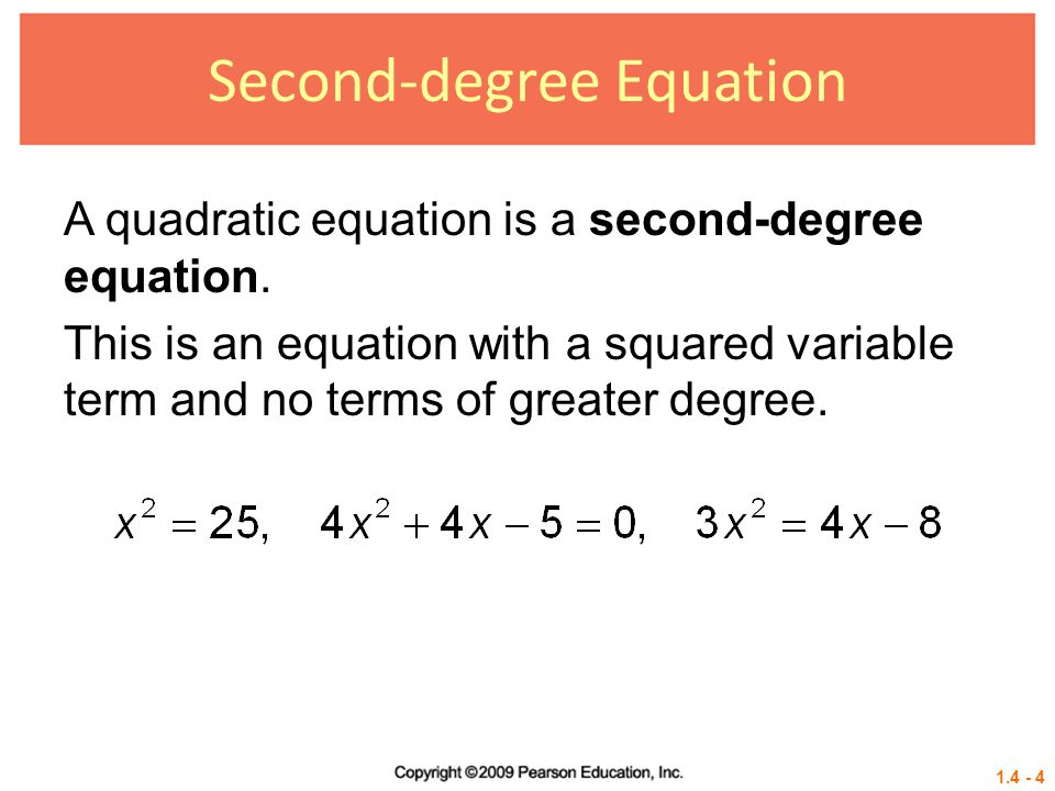 Second-degree Equation