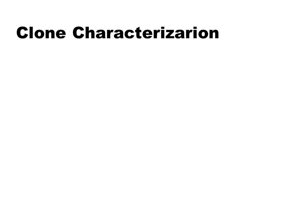 Clone Characterizarion