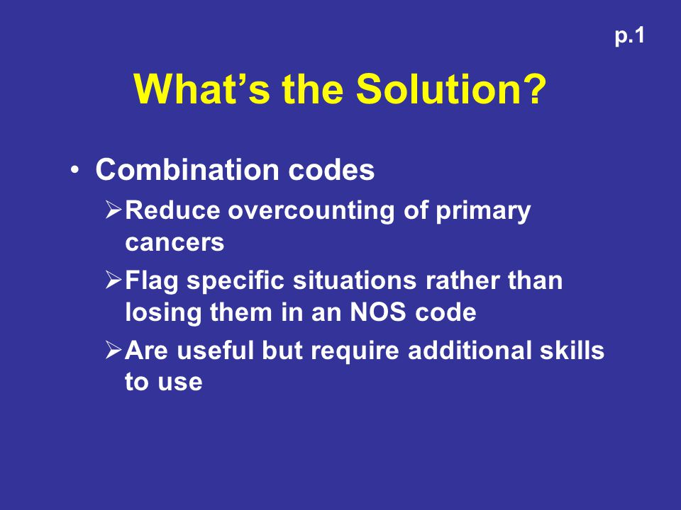 What's the Solution Combination codes