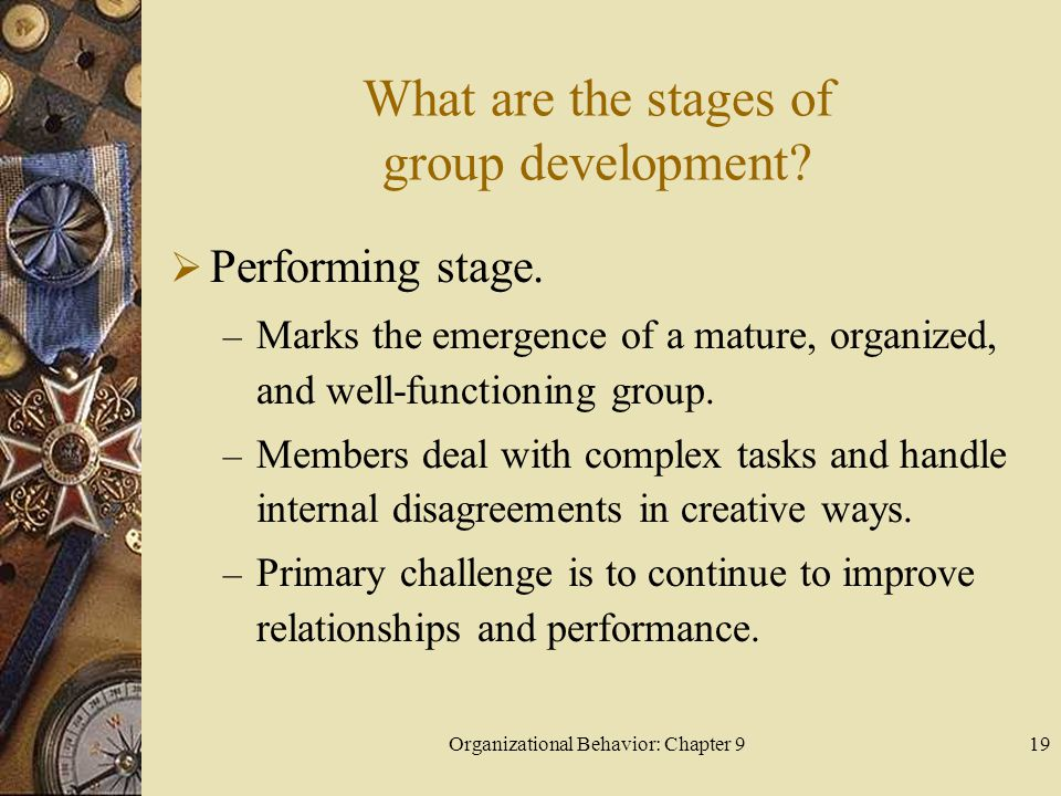 What are the stages of group development