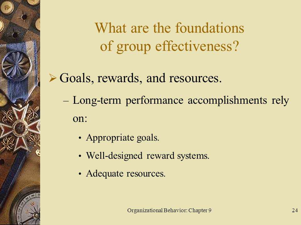 What are the foundations of group effectiveness