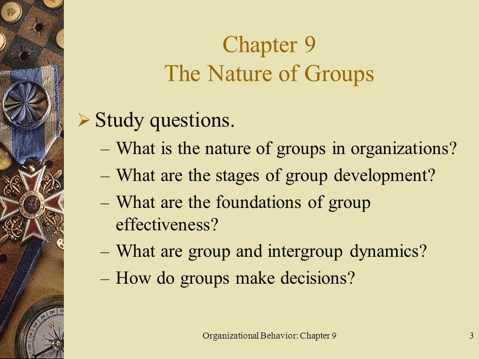 Chapter 9 The Nature of Groups