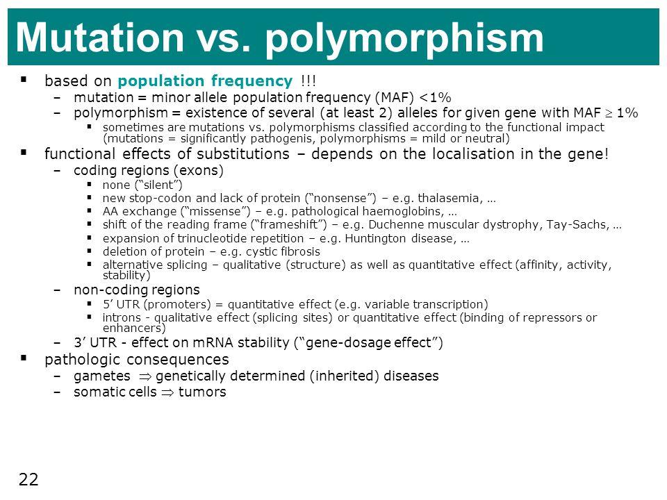 Mutation vs. polymorphism