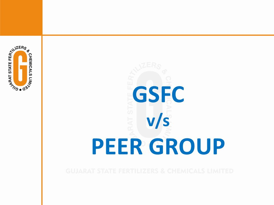 GSFC v/s PEER GROUP