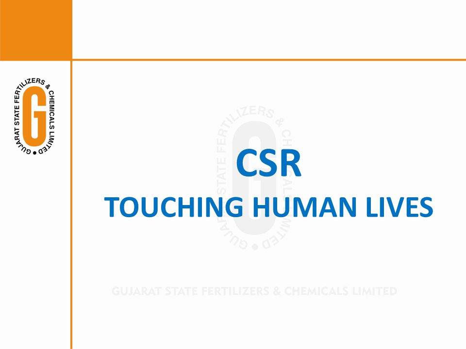 CSR TOUCHING HUMAN LIVES