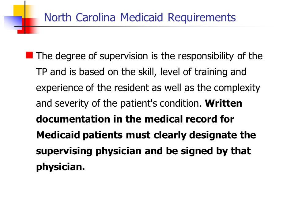 North Carolina Medicaid Requirements