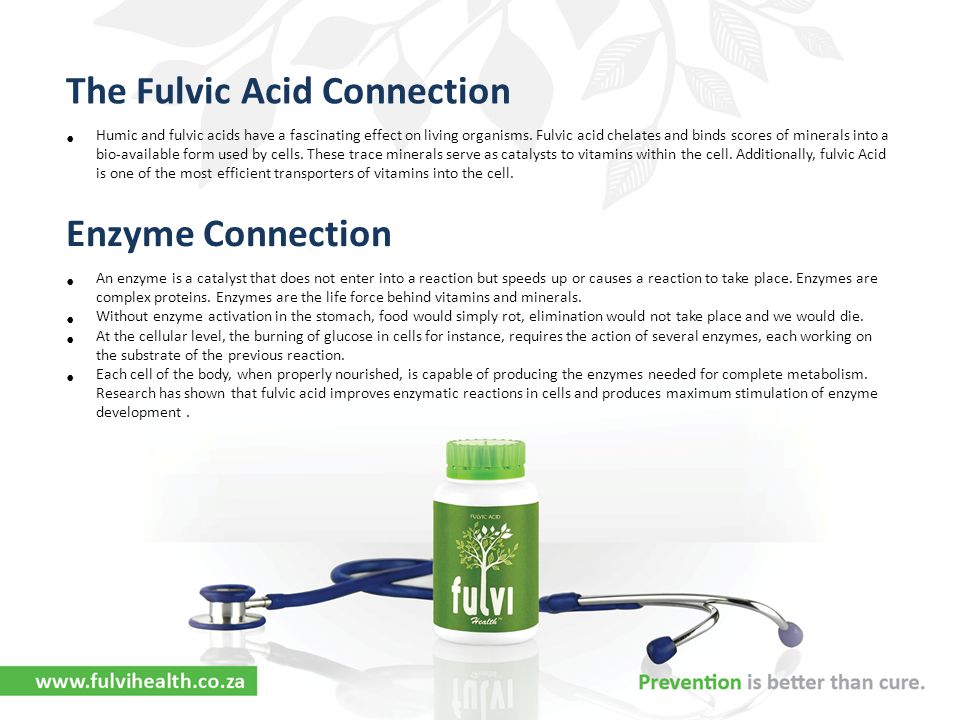 The Fulvic Acid Connection