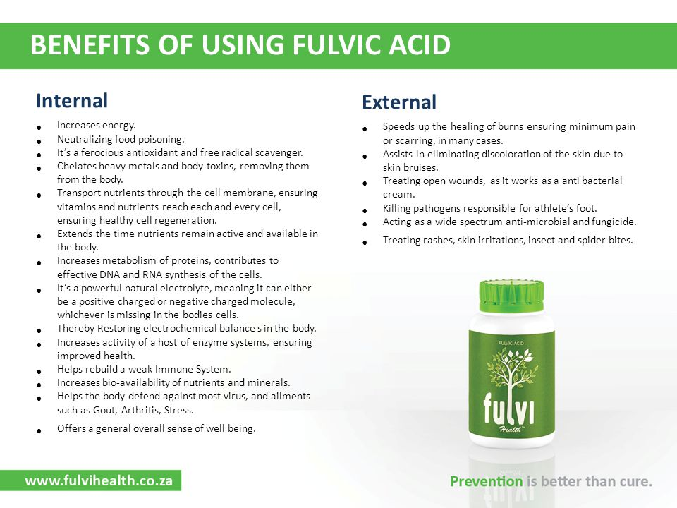BENEFITS OF USING FULVIC ACID