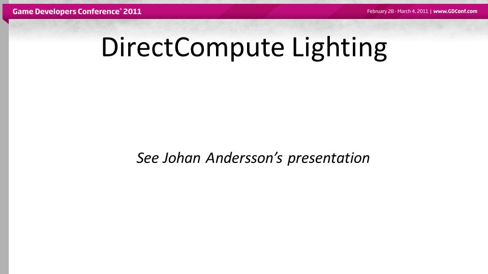 DirectCompute Lighting