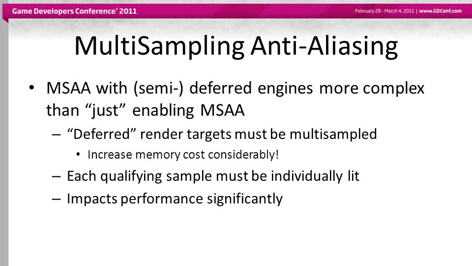 MultiSampling Anti-Aliasing