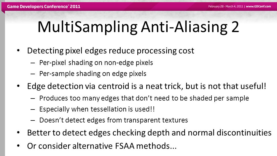 MultiSampling Anti-Aliasing 2