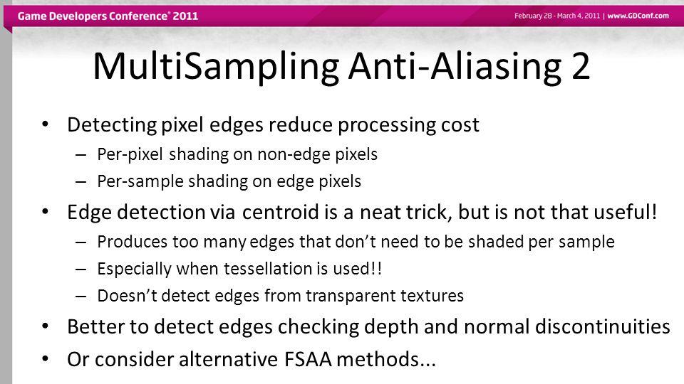MultiSampling Anti-Aliasing 2