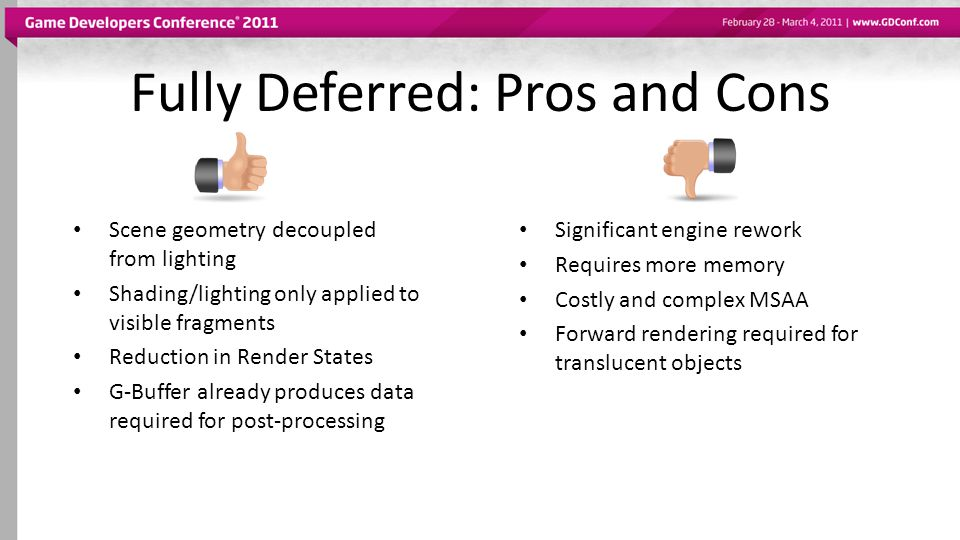 Fully Deferred: Pros and Cons