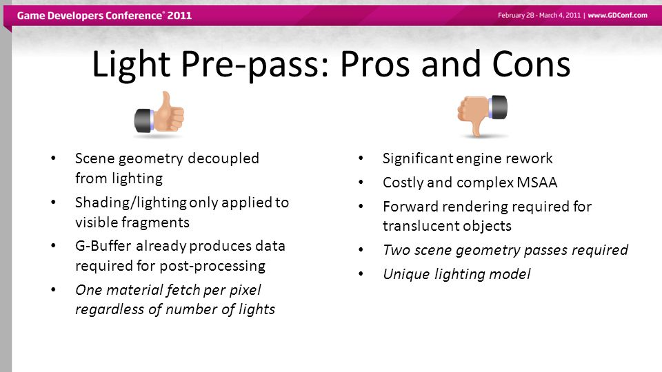 Light Pre-pass: Pros and Cons