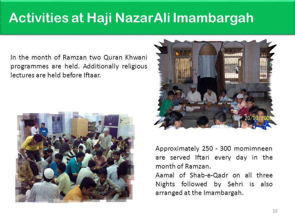 Activities at Haji NazarAli Imambargah