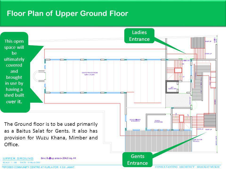 Floor Plan of Upper Ground Floor