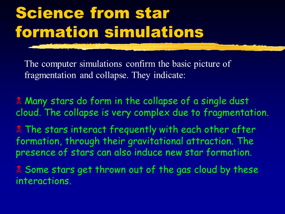 Science from star formation simulations