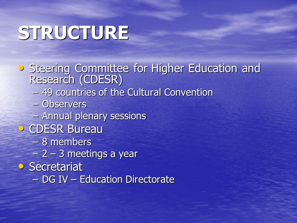 STRUCTURE Steering Committee for Higher Education and Research (CDESR)