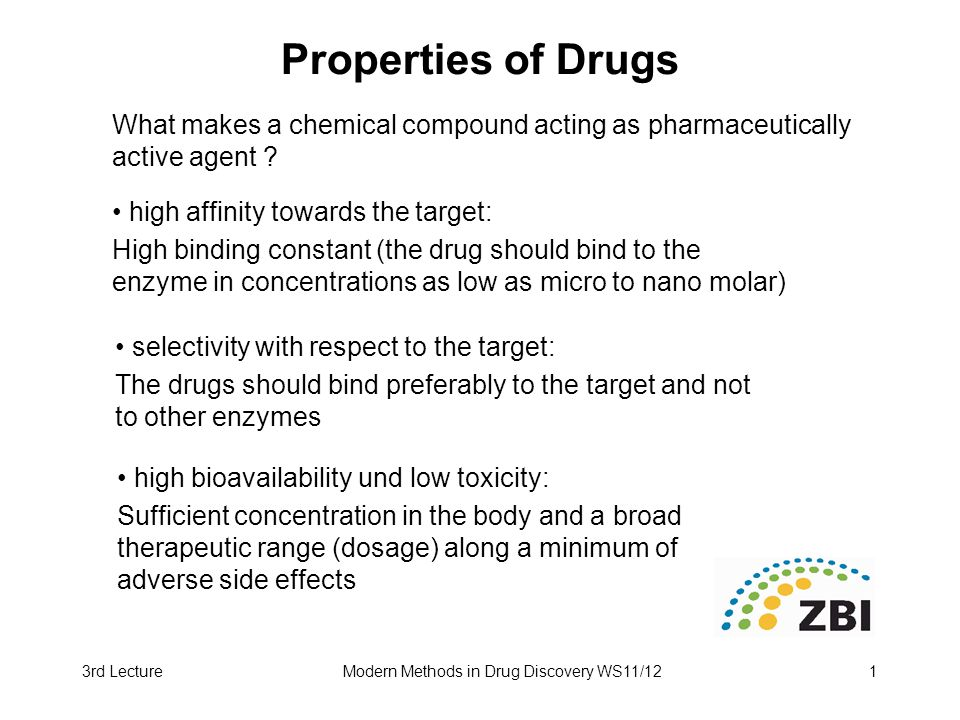 Modern Methods in Drug Discovery WS11/12