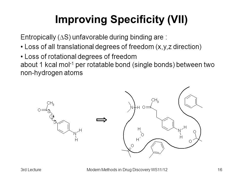 Improving Specificity (VII)