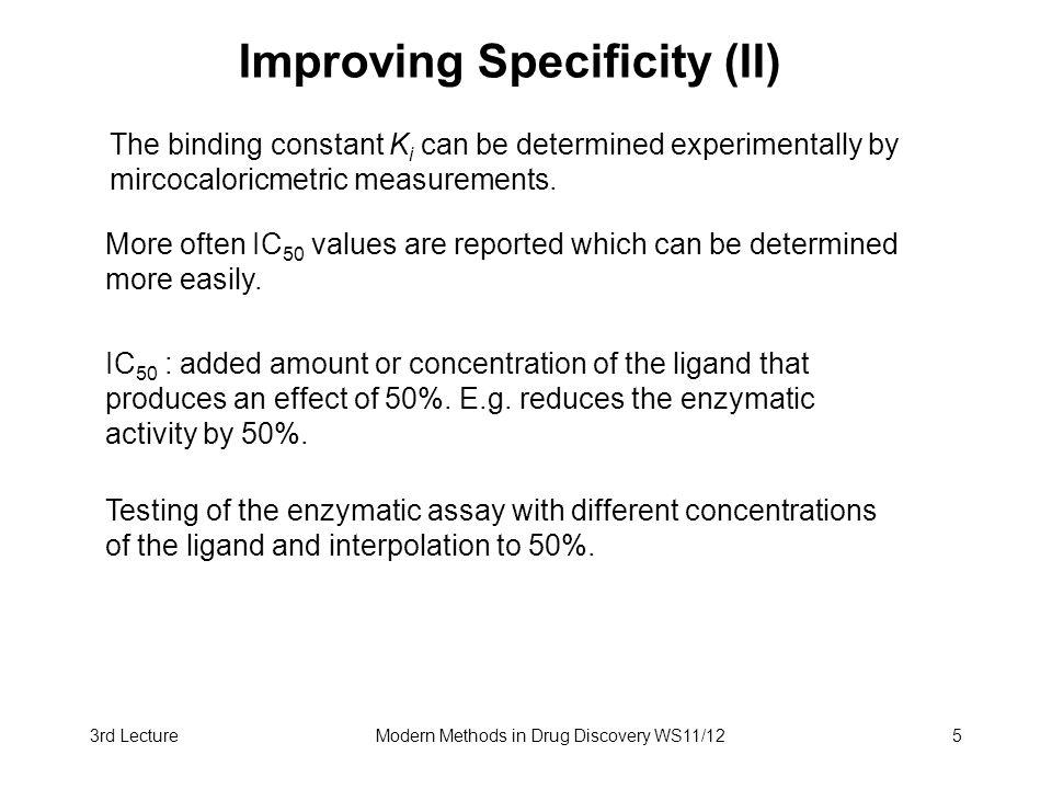 Improving Specificity (II)