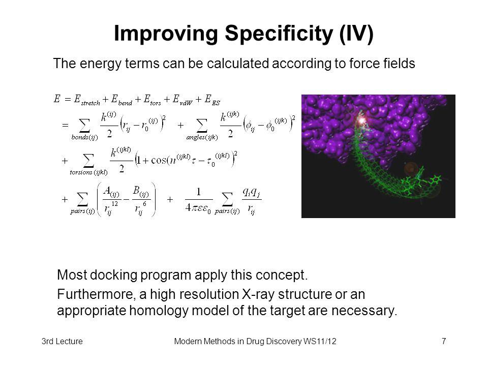Improving Specificity (IV)
